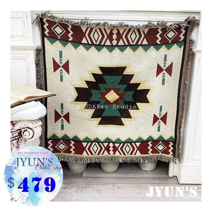 JYUN'S 新品定制款北歐風地毯客廳現代簡約沙發巾沙發罩波西米亞復古幾何蓋毯子 1款 預購