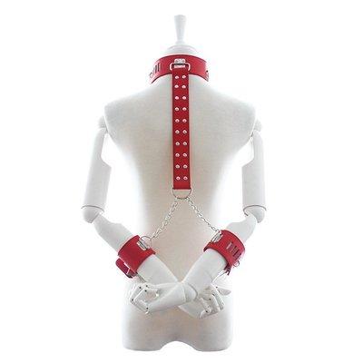#6390 反背激情束縛捆綁玩具(紅色) 情趣成人兩性SM用品商品手腳扣銬拘束眼罩皮鞭手拍羽毛口枷口塞頸套頭套乳夾乳貼低溫蠟燭