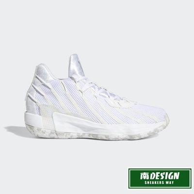 南◇2020 10月 ADIDAS DAME 7 GCA 白色 緞面白 籃球鞋 緩震 LILLARD FY2795