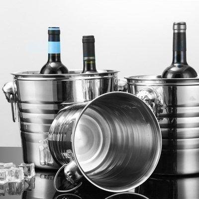 冰桶 不銹鋼加厚KTV酒吧歐式香檳桶冰塊粒桶中號虎頭啤酒冰桶紅酒冰桶mks