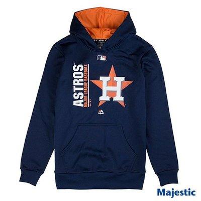 騎士風~ MLB 太空人 ASTROS 太空人隊 LOGO T 長袖 帽T 6760105-007