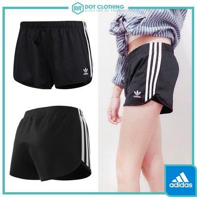 DOT聚點 ADIDAS ORIGINALS 3 STRIPES SHORT 黑白 運動 熱褲 短褲 女款 DV2555