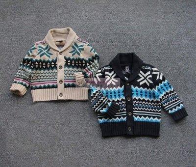 。2隻兔子優質童裝。Z牌 男童 緹花厚毛衣外套/開襟毛衣 2-8Y(SC12)冬季款