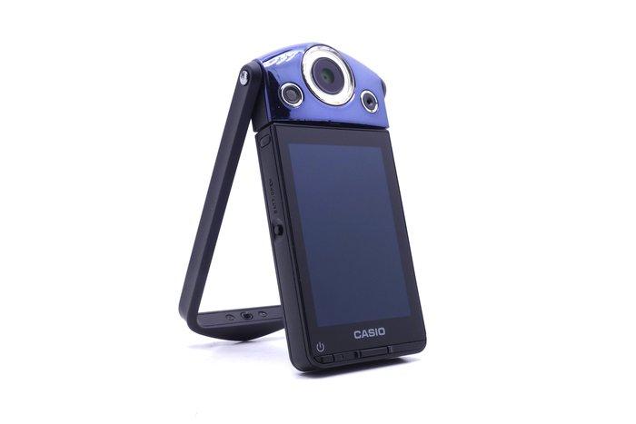 【台中青蘋果】Casio TR15 TR-15 藍 二手 自拍神器 #18096