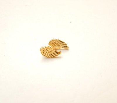 【三生】s925純銀鍍金天使翅膀耳環男女款手工定制原創個性簡約新品特價包YYH-7