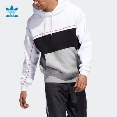 =E.P=Adidas ORIGINALS RIVALRY HOODIE 帽T 三葉草 白黑灰 男款 ED5464