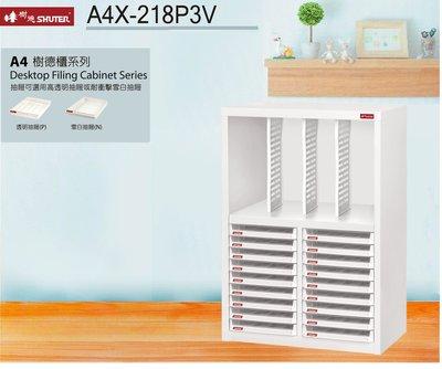 【樹德收納系列】落地型資料櫃 A4X-218P3V (檔案櫃/文件櫃/收納櫃/效率櫃)
