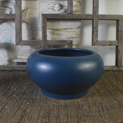 百寶軒 仿古瓷器復古清雍正風格孔雀藍釉筆洗水盂水缸古董古玩文房 ZK1547