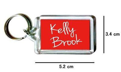 〈可來圖訂做-鑰匙圈〉Kelly Brook 凱莉布魯克 壓克力雙面鑰匙圈 (可當吊飾)