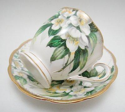【timekeeper】  英國製Royal Albert皇家亞伯特Orange Blossom系列咖啡杯+盤(免運)