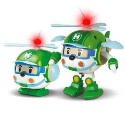 【小糖雜貨舖】韓國 Robocar POLI 波力 救援小英雄 - LED閃燈變形赫利