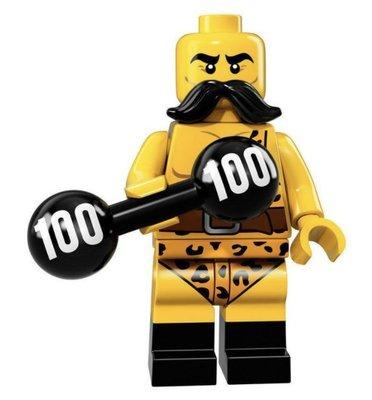 (bear)全新現貨 樂高 LEGO 71018 8號 17代人偶 Circus Strong Man 馬戲團舉重男