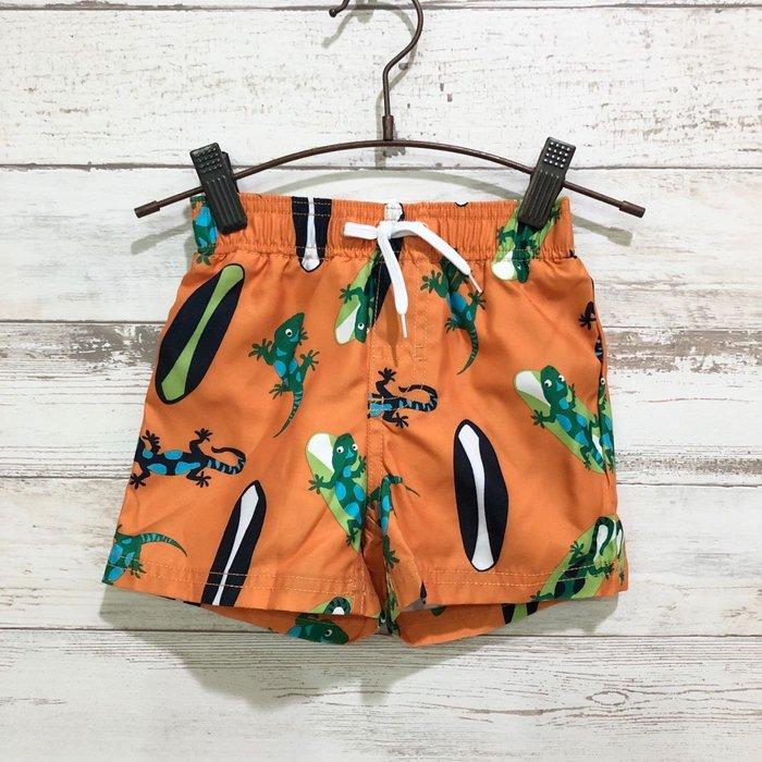 Maple麋鹿小舖 美國購買童裝品牌 GYMBOREE 男童橘色動物圖樣短褲 * ( 現貨12-18 mos )
