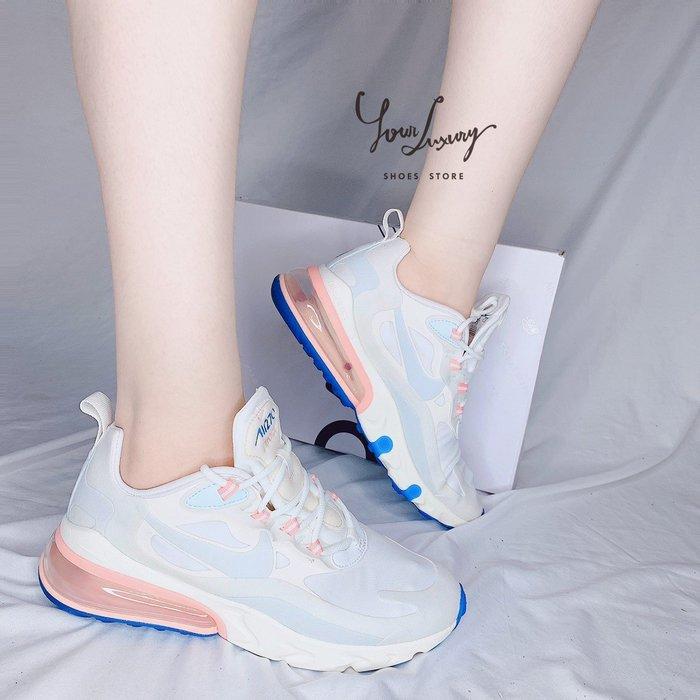 【Luxury】現貨 Nike Air Max 270 React 仙女鞋 氣墊 女鞋 草莓牛奶 雲朵棉花糖 粉 冰藍
