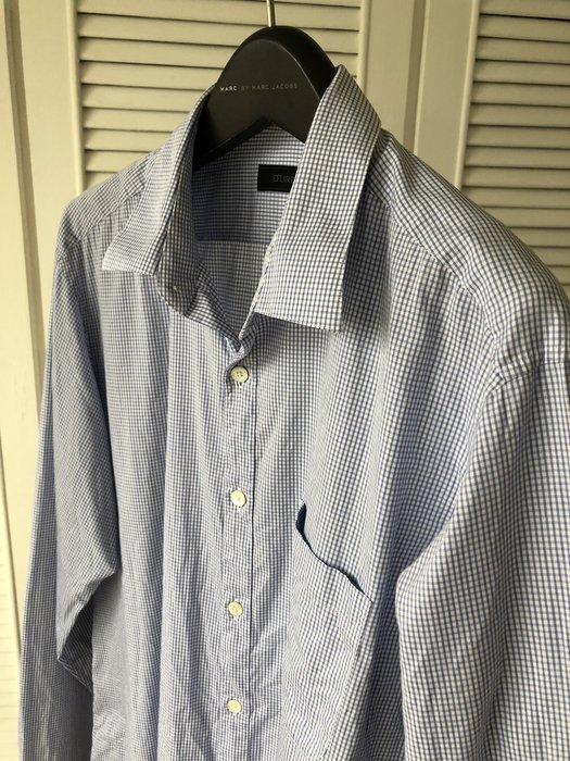 【D'URBAN】淺水藍極細格紋長袖襯衫👔