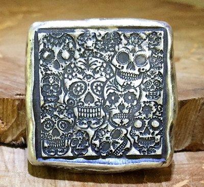«自由銀»手澆銀塊(銀條/銀幣)-Sugar Skull Graveyard 糖頭骨的墳墓
