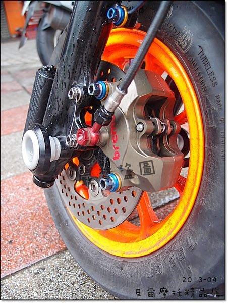 【貝爾摩托車精品店】自製 BREMBO CNC 大螃蟹/B對四/一般螃蟹 來令 擋片 彈簧 解決來令片敲擊 白鐵 原色