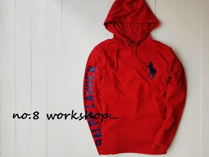 T☆【RL男生館】☆【POLO Ralph Lauren大馬刺繡連帽T恤】☆【RL001R7】(M)2/18到貨