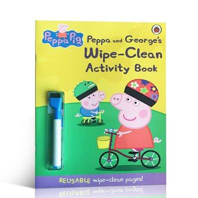 佩佩豬系列 英文原版Peppa Pig: Peppa and George's Wipe-Clean Activity