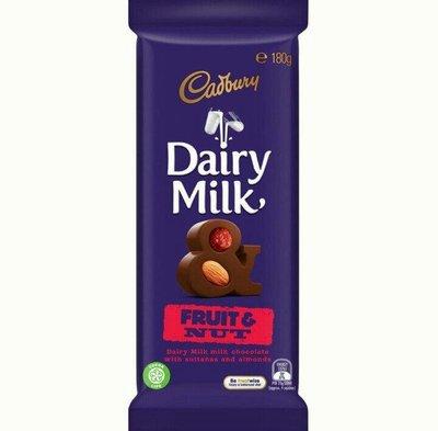 吉百利 Dairy milk fruit nut 葡萄堅果/1片/180g