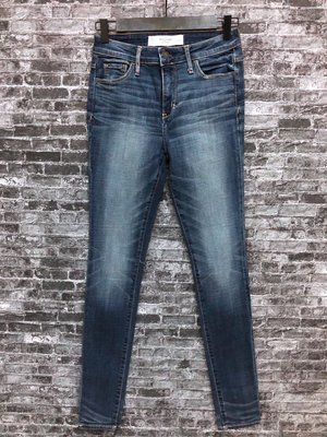 Maple麋鹿小舖 Abercrombie&Fitch * AF 藍色合身牛仔長褲 * ( 現貨0R號 )
