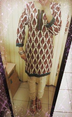 2. 變形蟲飾款庫塔 Designer's Kurta (庫緹 Kurti) 印度舞衣服飾 上衣 寶萊塢設計師款