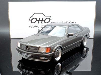 【M.A.S.H】現貨特價 OTTO 1/18 Mercedes Benz 560 SEC AMG C126 grey