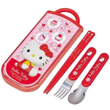 佳佳玩具 ---- 三麗鷗 正版授權 Hello kitty 凱蒂貓 三合一 餐具組 兒童餐具 不銹鋼【3742244】