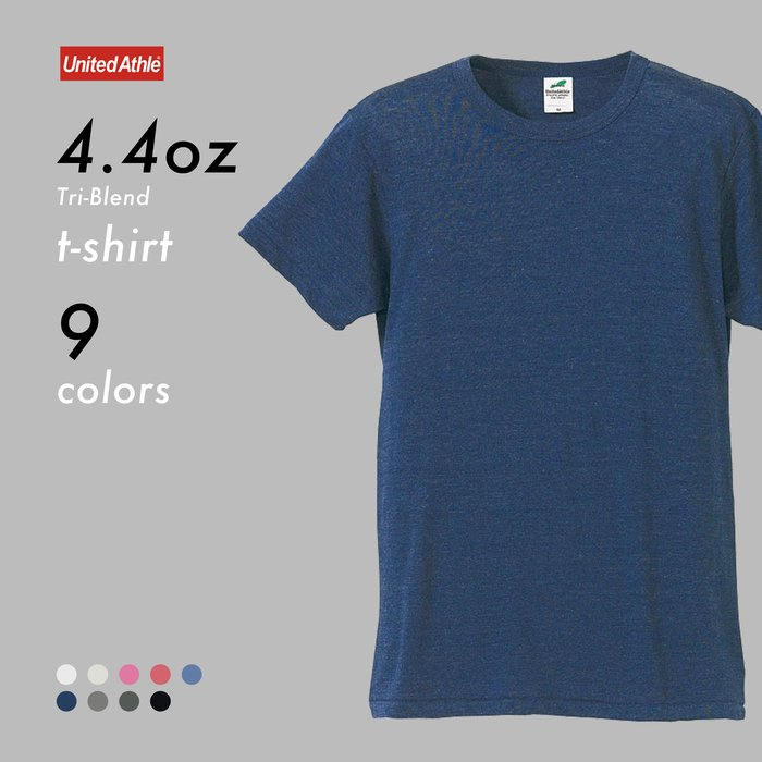 WaShiDa【UA1090】United Athle × T- Shirt 4.4 oz 4.4磅 短袖 圓領T恤 雪花 混織 舒適 合身 - 現貨