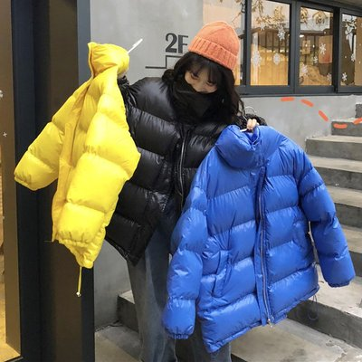 棉衣 羽絨服 麵包服 棉襖新款冬季韓版寬松顯瘦立領夾棉加厚保暖面包服學生棉服外套女