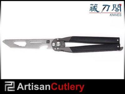 《藏刀閣》Artisan Cutlery-(1823P-BKC)黑色G10柄動能工具