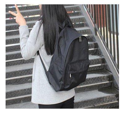 日韓連線 無印簡約尼龍 防水 雙肩包 良品包包 男女純色包 休閑 背包 學生書包 旅行包 電腦包 後背包