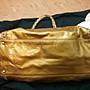 正品香奈兒 金色亮皮鏈帶購物包手提背包孟買包