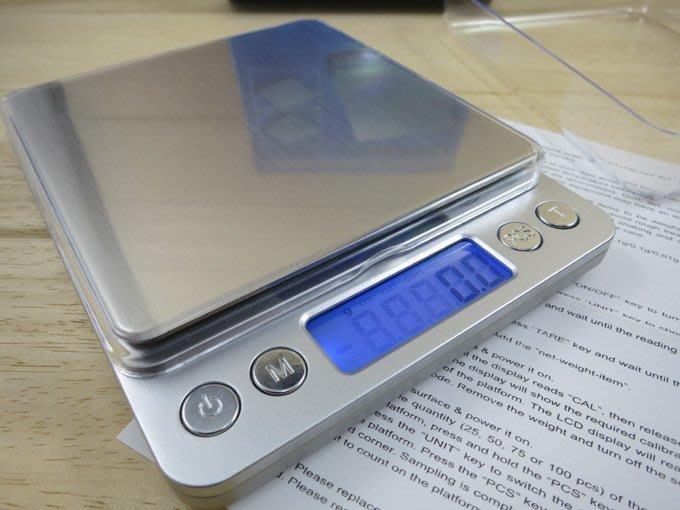 開發票!【 送高品質電池! 】精密電子秤0.1g~3kg /0.01g~500g 二款自選【優質首選!方便攜帶!】茶葉秤【M0005】