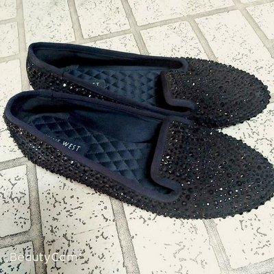 NINE WEST 貼鑽平底鞋