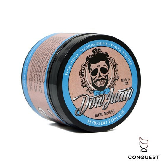 【 CONQUEST 】Don Juan Hybrido Pomade 藍水鬼 強力水性髮油 骷髏頭 塑型力強 高保濕度