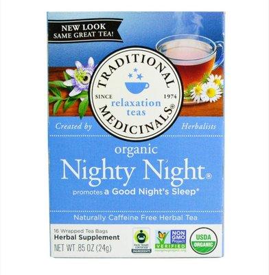 Traditional Medicinals草本茶夜晚眠茶,不含咖啡萃取,16包茶袋,0.85盎司(24克)