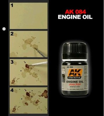 (AK)AK interactive 漬洗琺瑯油系列 / Weathering Products enamel color (4)
