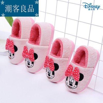 【潮客良品】~迪士尼兒童包跟棉拖鞋秋冬...
