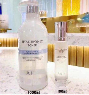 新款韩国正品AHC神仙水 B5玻尿酸 透明質酸 精華 化妝水 爽膚水1000ml大瓶装