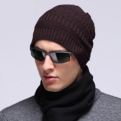 毛帽 羊毛針織帽-純色休閒保暖護耳男帽子3色73wj49[獨家進口][米蘭精品]