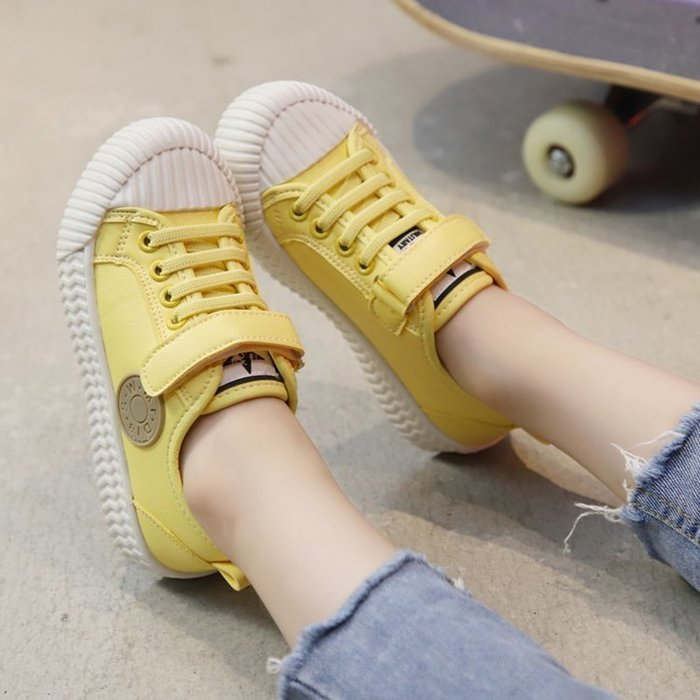女童鞋子韓版潮范兒新款春秋兒童板鞋男童軟底百搭時尚運動鞋