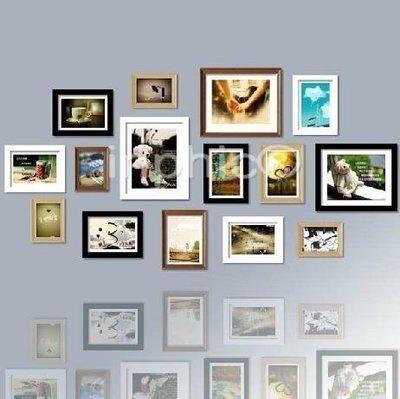INPHIC-15框實木照片牆相框牆照片牆相框組合