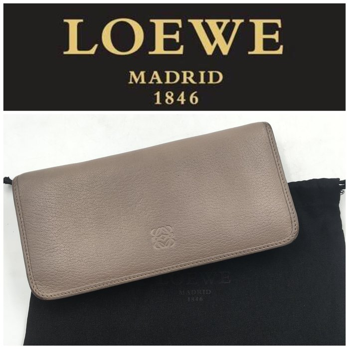 【皮老闆二店】 二手真品 Loewe 錢包 長夾 皮包   藍322