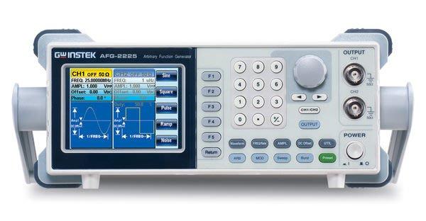 TECPEL 泰菱 》固緯 GWInstek AFG-2225 雙通道 25MHz 任意波函數信號產生器 信號產生器