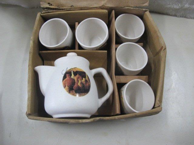 二手舖 NO.4407 蕃之窯 青田燒 杯組 1壺5杯 當代藝術家 游守中 茶杯 茶壺