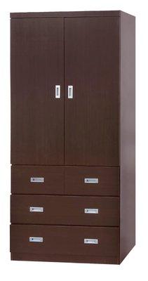 【南洋風休閒傢俱】精選時尚衣櫥 衣櫃 置物櫃 拉門櫃 造型櫃設計櫃-胡桃3*7尺衣櫥 CY182-137