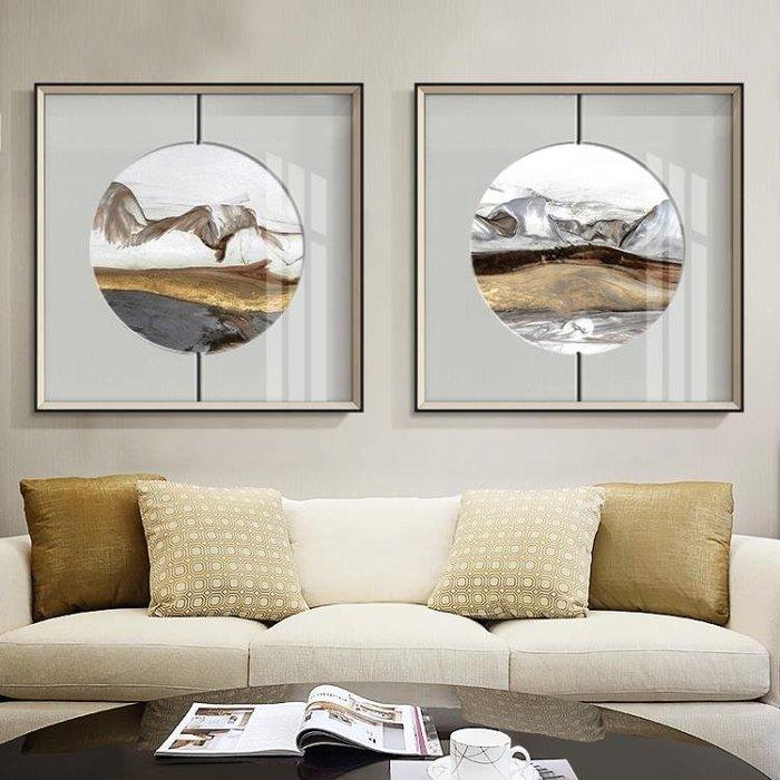 新中式抽象客廳沙發背景墻裝飾畫臥室床頭掛畫書房酒店茶館壁畫