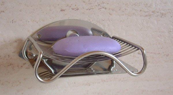 ☆成志金屬☆ S-44-2F #304不銹鋼壁掛香皂架肥皂架、菜瓜布架 附不鏽鋼小水盤及背掛片