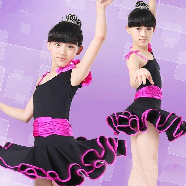 5Cgo【鴿樓】會員有優惠 43859263286 少兒拉丁舞蹈服裝練功練習演出表演比賽服長短袖拉丁舞蹈裙 拉丁舞套裝